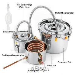 Moonshine Still 8Gal/30L Water Alcohol Distiller Home Brew Wine Making Kit 3 Pot