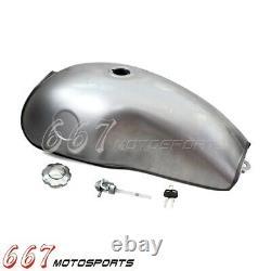 Motorcycle Gas Fuel Tank 10L 2.6 Gallon For Honda Suzuki Yamaha CB XS Cafe Racer