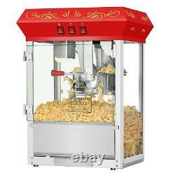 Movie Night Superior 3 Gallon Capacity Countertop Popcorn Popper 8 Oz Red