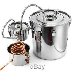 NEW 5Gal Wine Alcohol Water Distiller 3Pot Moonshine Still Boiler Home DIY Kits