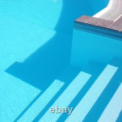 Pool Paint 5 gal Ocean Blue Solid Deck Concrete Semi Gloss Acrylic Self Priming