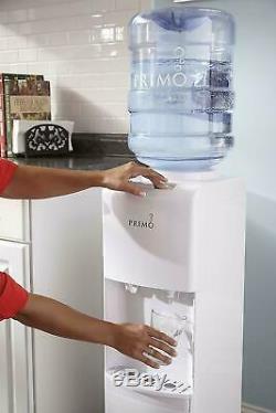 Primo Top Loading Hot Cold Water Dispenser White Cooler 5 Gallon bottle