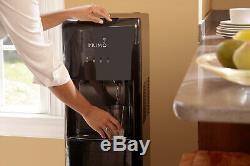 Primo Water Dispenser Bottom Loading Load Hot Cold Cooler Black 3 or 5 gallon