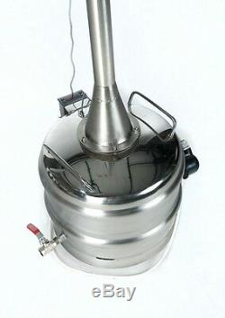 Professional Stainless Steel Electrical Alcohol Distiller 96+% Moonshine Ethanol