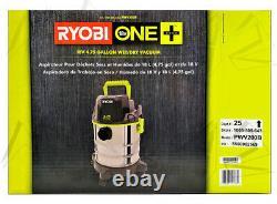 RYOBI 18V Wet/Dry Vacuum Cordless 4.75 Gallon Shop Vac ONE+ PWV200B Brand New