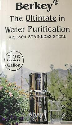 Royal Berkey Water Filter System 3.25 gallon With 2 Elements 304 Stainless Steel