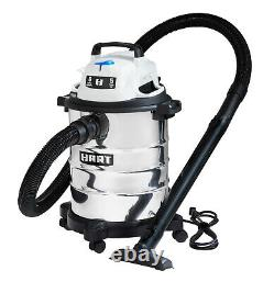 SHOP VAC WET DRY VACUUM Cleaner 6 Gal 5.0 HP Stainless Steel With Attachments