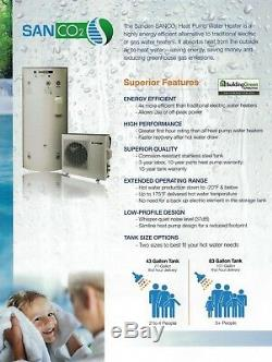 Sanden CO2 Electric Heat Pump Hot Water Heater 83 Gallon Stainless Steel Tank