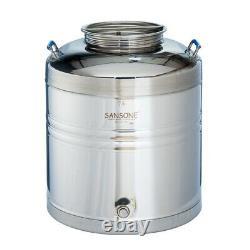 Sansone Stainless Fusti Tank 75 L (19.8 gal) Fermenter Beer Wine Moonshine