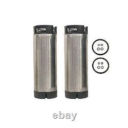 Set of Two 5 Gallon Ball Lock Home Brew Beer Kegs Reconditioned Pepsi Soda Keg