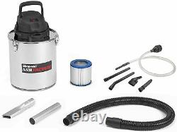 Shop Vac Ash Vacuum Cleaner 5 GAL Fireplace Ash Soot Coals Stainless Steel HEPA