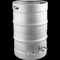 Stainless Steel Converted Keg Brewing Kettle (Keggle) 15.3 gal w Valve Beer