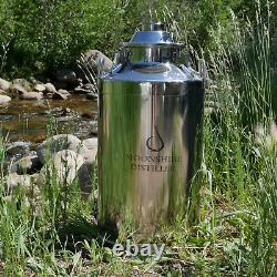 Stainless Steel Milk Can Distilling Boiler 13 Gallon, 2/3/4 Lid Available