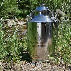 Stainless Steel Milk Can Distilling Boiler 8 Gallon, 2/3/4 Lid Available