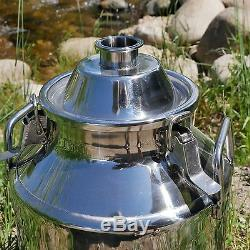 Stainless Steel Milk Can Still Boiler/Brew Pot 8 Gallon/2 Opening