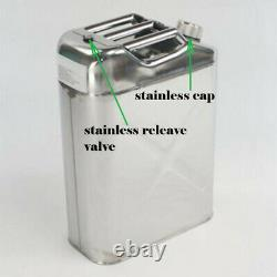 TGT4X4 304 Stainless Steel Jerry Can 10 Gallon Water Can 40 L Portable