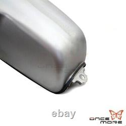 Titanium 9L / 2.4 Gal Cafe Racer Gas Fuel Tank For Suzuki Honda Yamaha RD50/350