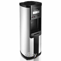 Top Loading Stainless Steel Water Cooler Dispenser Cold Hot 5 Gallon Home Office
