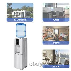 Top Loading Water Cooler Dispenser 5 Gallon WithSafety Lock Cabinet LED Display