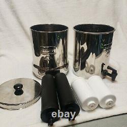 Travel Berkey BT2X2-BB 1.5 Gallon Gravity Stainless Steel Water Filter System