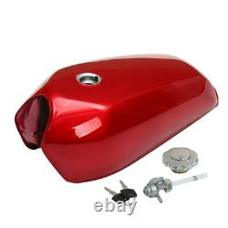 US STOCK 9L/2.4 Gallon Universal Bikes Cafe Vintage Fuel Gas Tank with Cap Switch