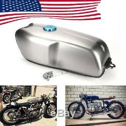 US Ship Cafe Racer Universal 9L/ 2.4 Gallon Gas Fuel Tank for BMW Honda Yamaha