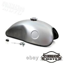 Universal Motorcycle 10L Fuel Tank Vintage 2.6 Gallon Gas Tank For Cafe Racer