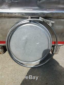 Used 300 gallon Stainless Steel Tote IBC tank Precision IBC sku B2