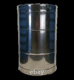 Used 55 gallon Stainless Steel Drum Barrel Thick 1.5mm Sanitary Bottom