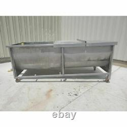Used 950 Gallon Stainless Steel Tub Trough Tank