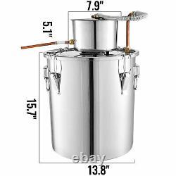 VEVOR 9.6Gal Moonshine Still Stainless Steel Boiler Water Wine Alcohol Distiller