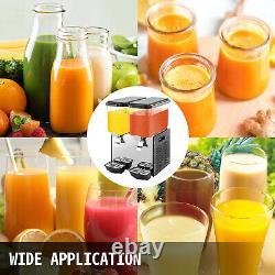 VEVOR Commercial Cold Beverage Juice Dispenser Frozen Ice Drink 9.5 Gal 2 Tanks