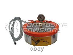 Vacuum Chamber / Degassing Pot Stainless Steel Flat 1 Gallon