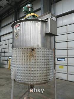 Viatec 483 Gallon Jacketed Stainless Steel Tank With Lightnin Series 10 Mixer