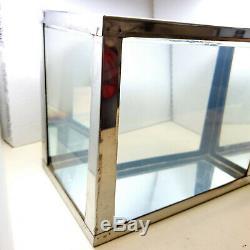 Vintage Stainless Steel Metaframe Aquarium 1 3/4 Gallon Glass Bottom RARE